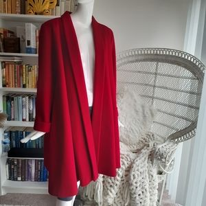 100% AUTHENTIC CHRISTIAN DIOR RED WOOL COAT